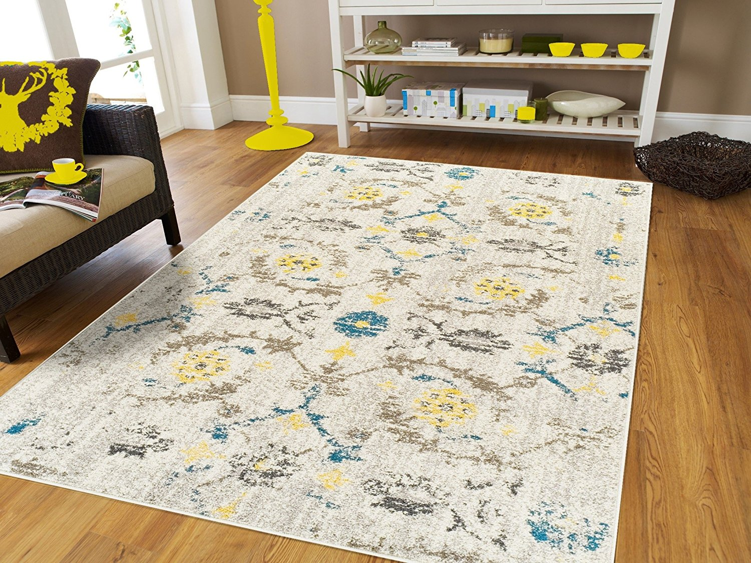 New Fashion Faded Style Luxury Rugs for Bedroom Modern Rugs