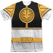 Power Rangers - White Ranger(Front/Back Print) - Short Sleeve Shirt - XX-Large