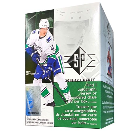 2018-2019 Upper Deck SP Hockey Value Box- Walmart Exclusive- 1 Auto, Jersey or Numbered Chase card per Box