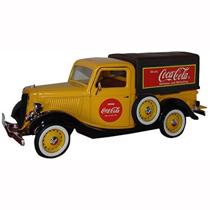 Solido Yellow Coca-Cola Ford Pickup Truck 1934 1:18 Scale