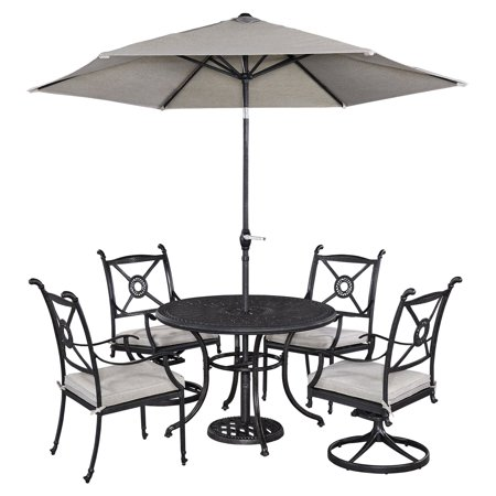 Tremendous Home Styles Athens Outdoor 5Pc Dining Set With 42 Dining Table 2 Swivel Chairs And 2 Arm Chairs Alphanode Cool Chair Designs And Ideas Alphanodeonline