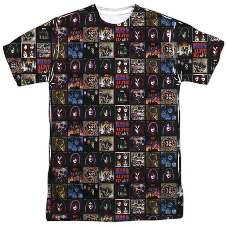 Kiss - Album Covers - Short Sleeve Shirt - Medium Album White T-shirt