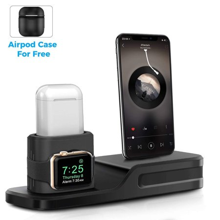 low priced 0c5b9 be1fa Apple Watch Stand - 3 in 1 Silicone Charging Stand Dock for Apple ...