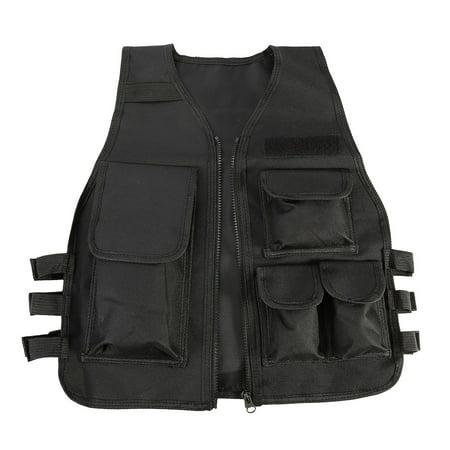 Armor Vest,HURRISE Nylon CS Game Airsoft Molle Plate Carrier Body Armor Vest For Children