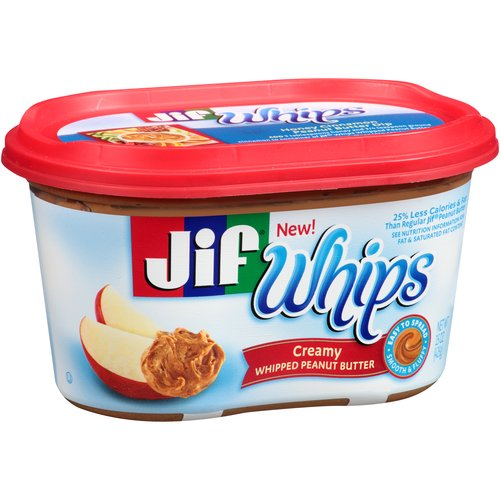 Jif Whips Creamy Whipped Peanut Butter, 15 oz