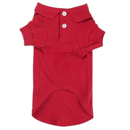 """Zack & Zoey Cotton Polo Shirt for Dogs, 12"""" Small, Raspberry Sorbet, Classic styling, with ribbed knit cuffs and a two-button collar By Zack Zoey"""