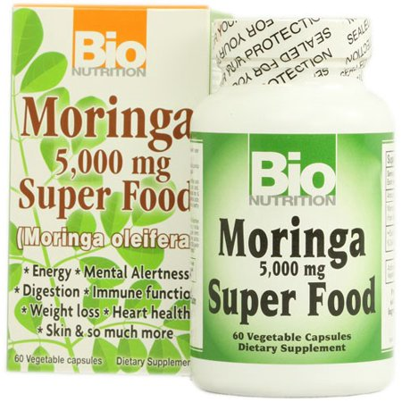 Bio Nutrition Moringa Super Food 5000 Mg   60 Vegetable Capsules