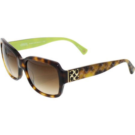 Coach Women's Gradient HC8001-505213-57 Brown Rectangle (Brown Gradient Sunglasses)
