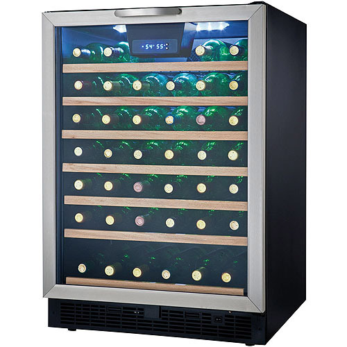 Danby 50-Bottle Designer Wine Cooler, Black and Stainless Steel
