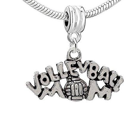 Volleyball Mom Charm Pendant