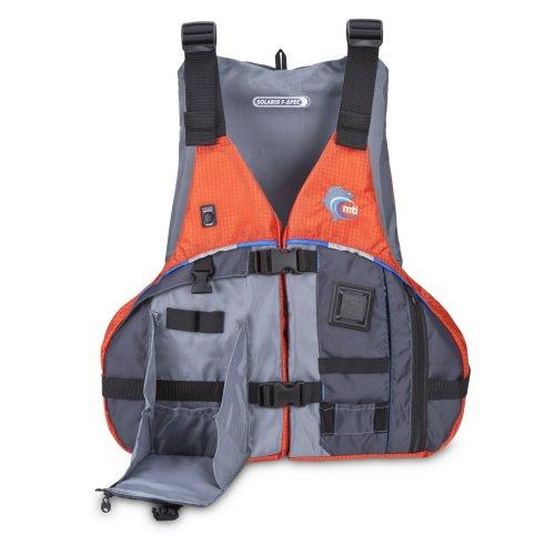 MTI Adventurewear Solaris F-Spec Kayak Fishing PFD Life Jacket, OrangeGrey, SmallMedium - image 1 of 1