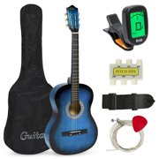 Best Choice Products 38in Beginner Acoustic Guitar Starter Kit w/ Case, Strap, Digital E-Tuner, Pick, Pitch Pipe, Strings (Black)
