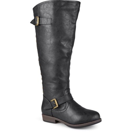 Women's Wide-Calf Knee-High Studded Riding Boot (Studded Knee High Boots)