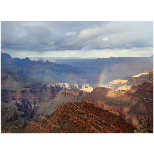 "Trademark Fine Art ""Grand Canyon Rainbow"" Canvas Art by Pierre Leclerc"