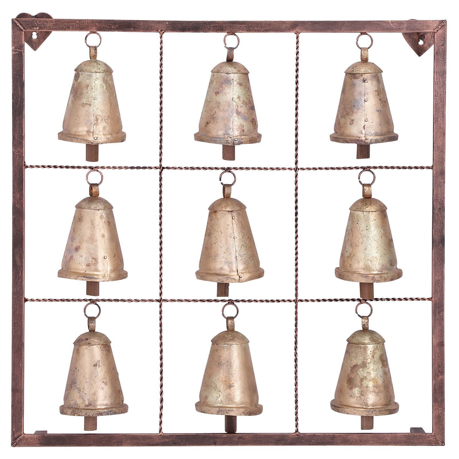Decmode Metal Bell Wall Plaque, Brass by DecMode