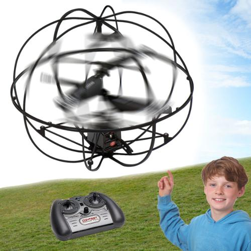 Tech Team RC Orbiter Flying Helicopter Remote Control with Gyro Toy 3.5 Channel Indoor Outdoor