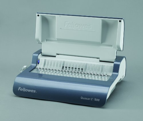 Fellowes Binding Machine Quasar E 500 Electric Comb with Starter Kit (5216901) by Fellowes