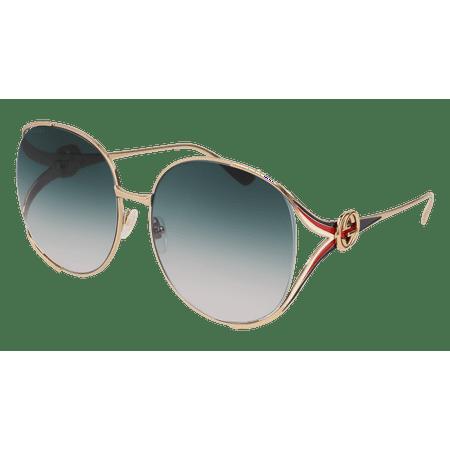 Gucci GG0225S-004 Gold Square Sunglasses