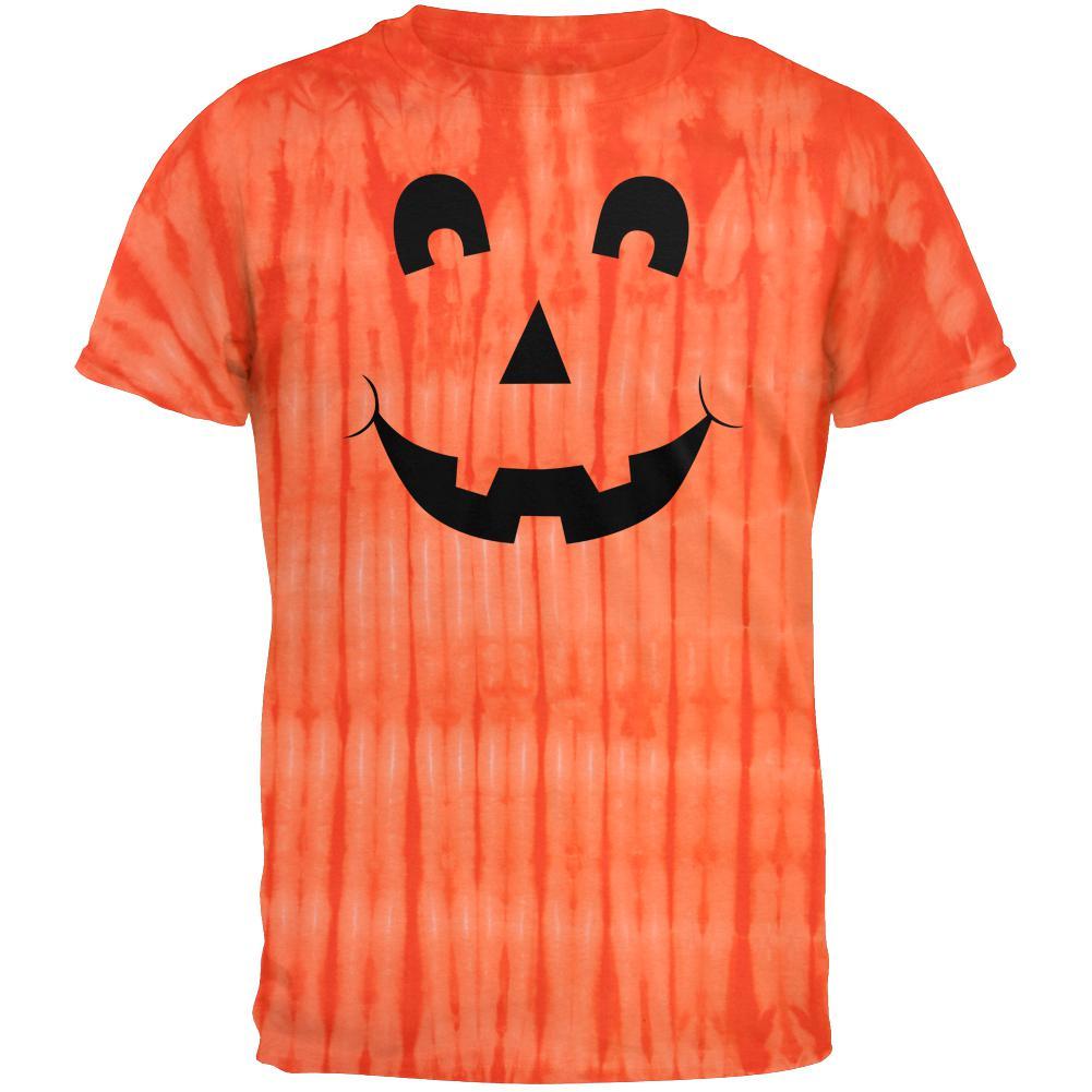 Halloween Jack-O-Lantern Excited Face Tie Dye T-Shirt