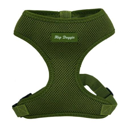 Hip Doggie Ultra Comfort Olive Green Mesh Harness Vest