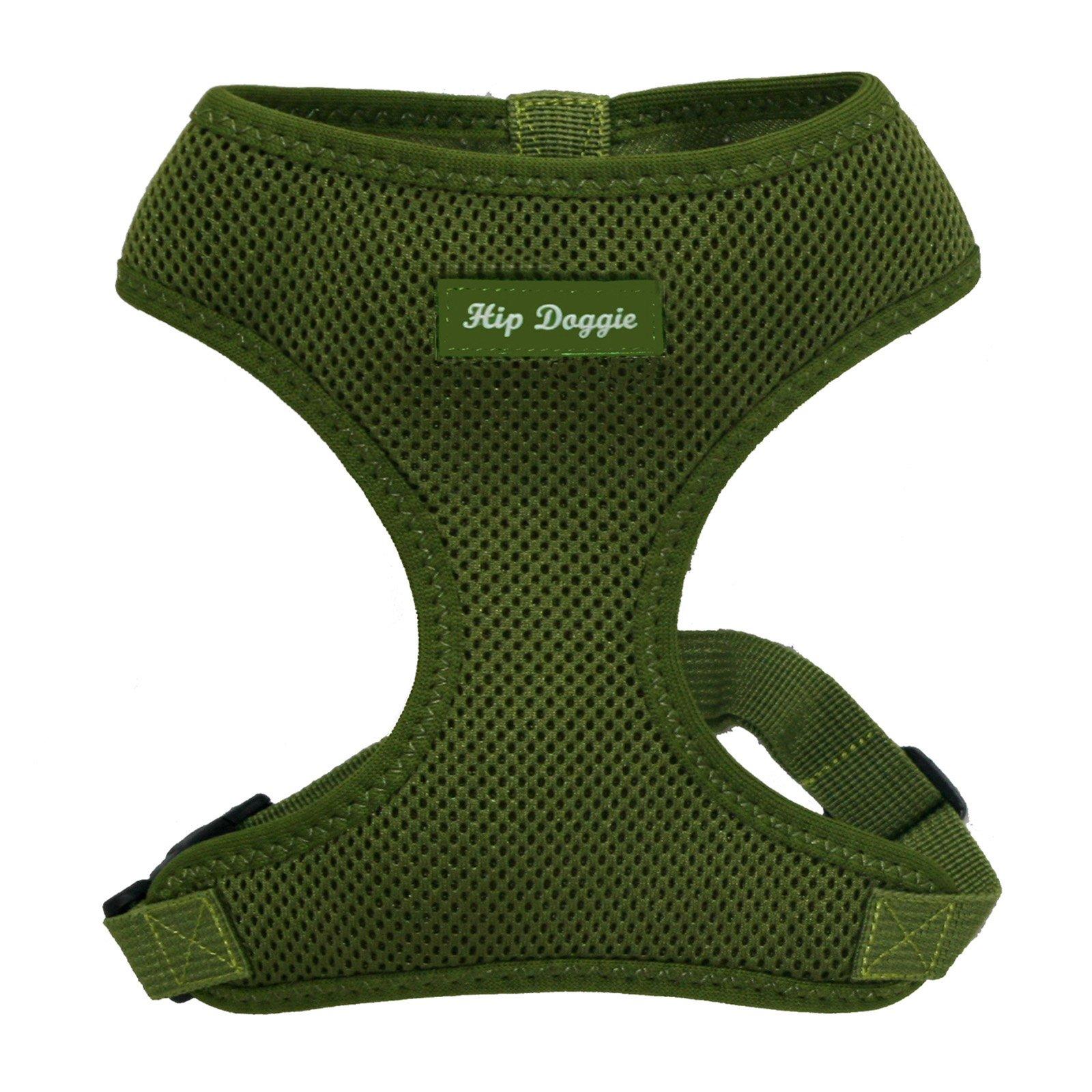 Hip Doggie Ultra Comfort Mesh Dog Harness Vest in Olive Green