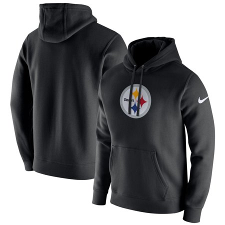 - Pittsburgh Steelers Nike Club Fleece Pullover Hoodie - Black