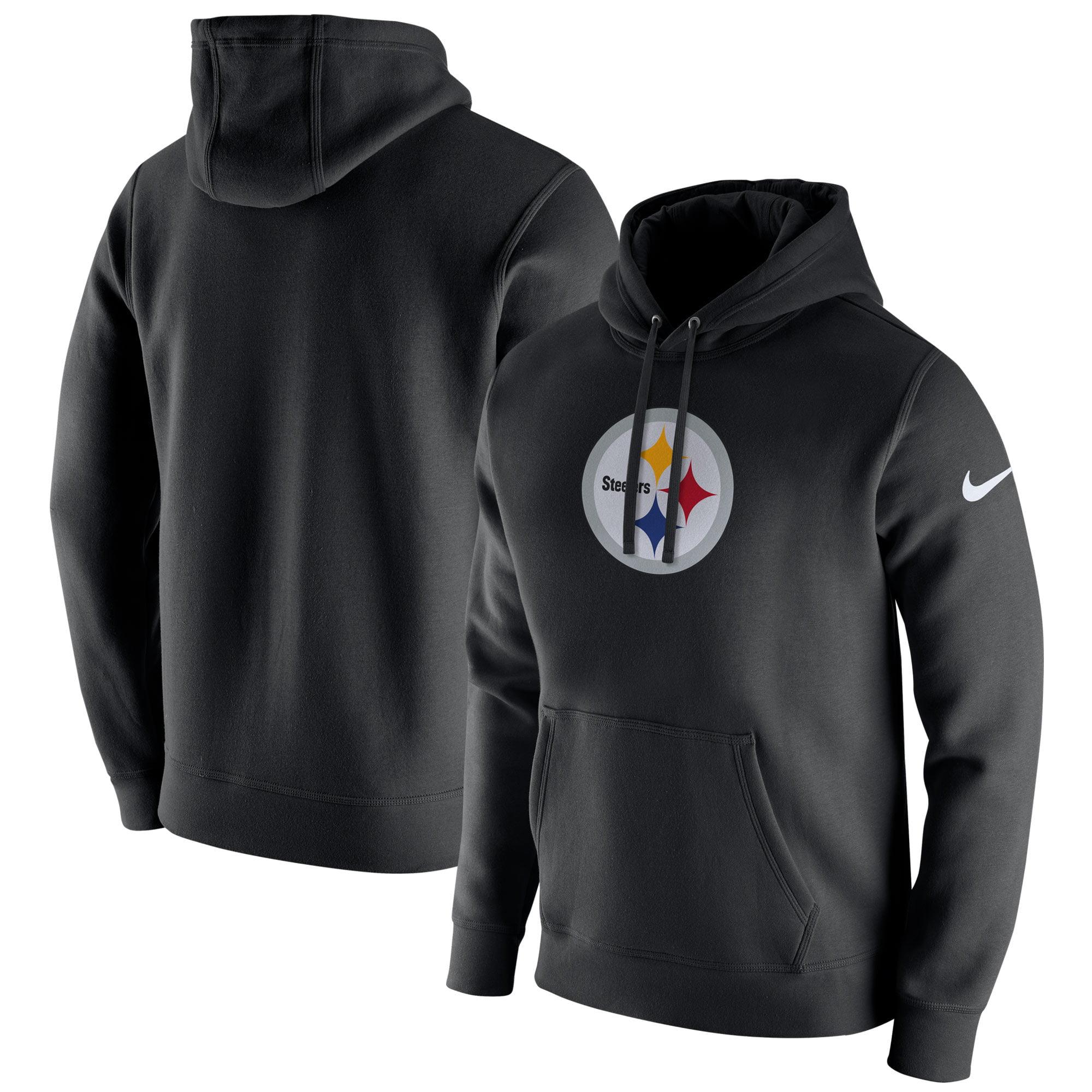 Pittsburgh Steelers Nike Club Fleece Pullover Hoodie - Black