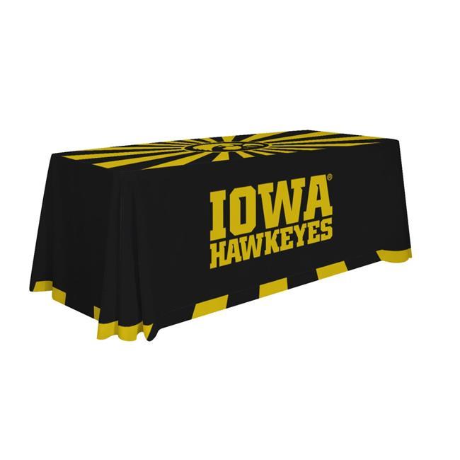 Victory Corps 810026IOWA-005 6 ft. NCAA Table Throw Iowa - No.005
