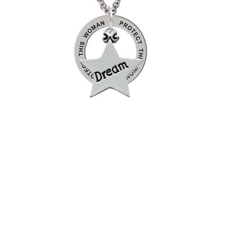 Dream Star Protect This Woman Affirmation Ring Necklace