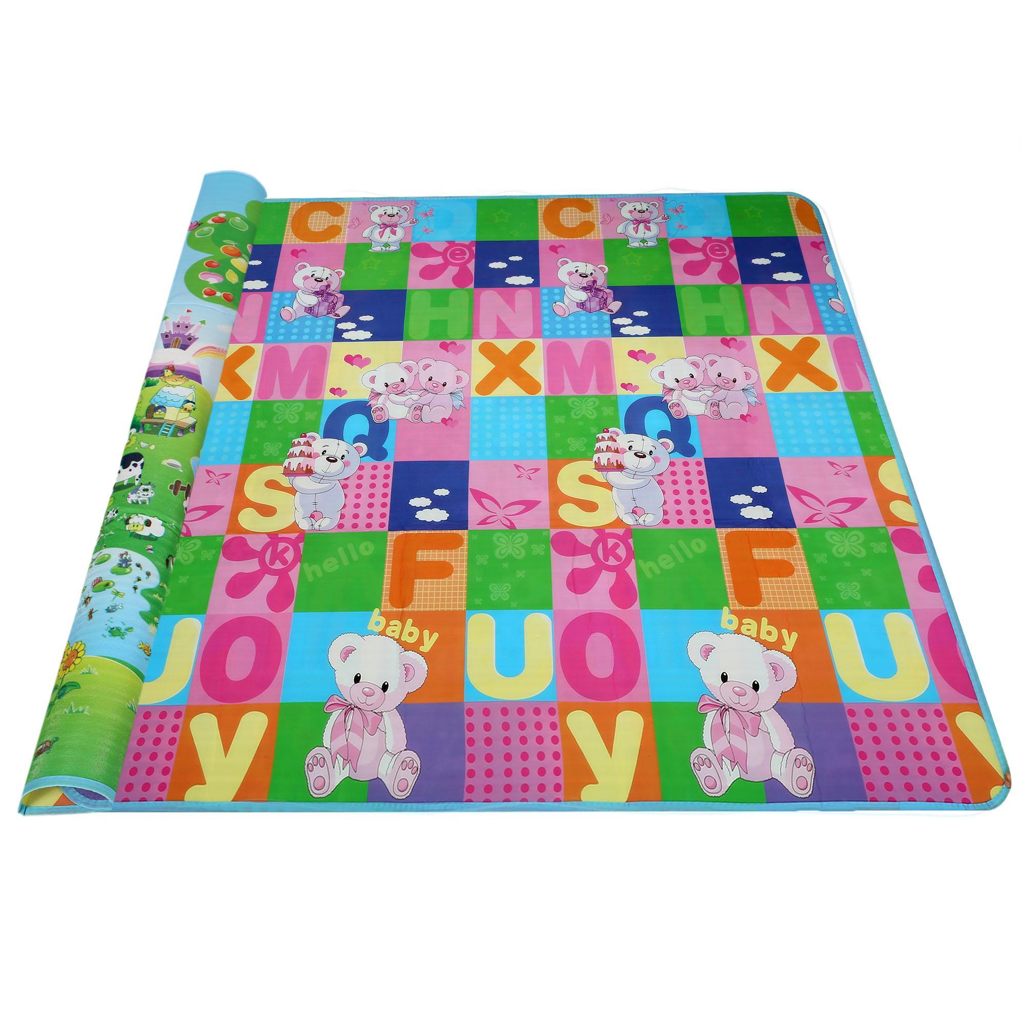 Lowest Price ever ! Baby Kids Play Mat Picnic Cushion Crawling Mat with Two Sides Playing Activity Pad DADEA
