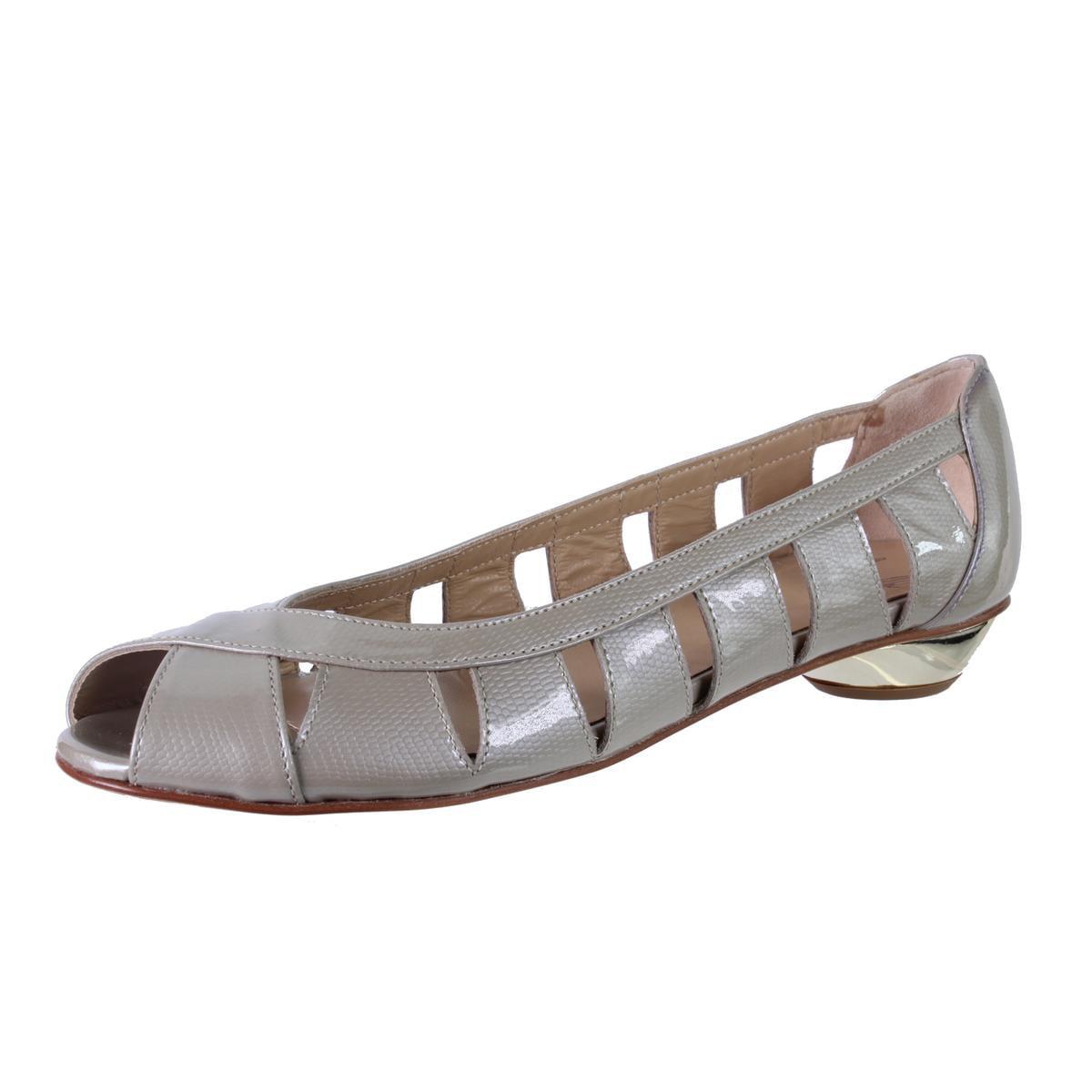 Amalfi by Rangoni Womens Idelle Lizard Metallic Peep-Toe Shoes by Amalfi by Rangoni