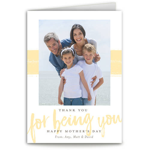Thank You For Being You Mother's Day Greeting Card
