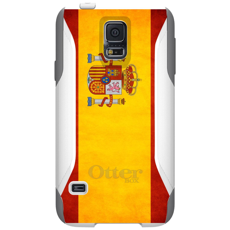 DistinctInk Custom White OtterBox Commuter Series Case for Samsung Galaxy S5...