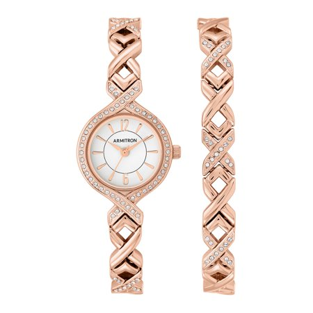 Women's Rose Gold Round Dress Watch -