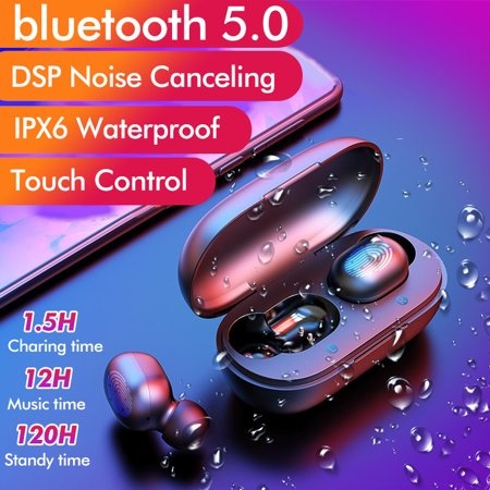 2019 NEW blue tooth 5.0 Fast Connection TWS Wireless Earbuds Waterproof Headset Stereo Earphones DSP Noise Cancelling Headphones Phone Accessories with Charging Box for Sport