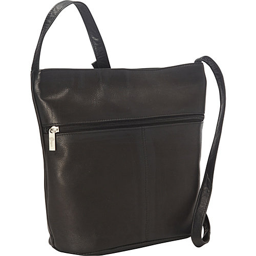Royce Leather Vaquetta Shoulder Bag with Front Zipper