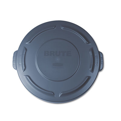 Rubbermaid Flat Top Lid for 20-Gallon Round Brute Containers RCP261960GRA