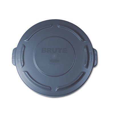Gallon Brute Round Container Lid - Rubbermaid Flat Top Lid for 20-Gallon Round Brute Containers RCP261960GRA