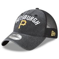 09651fcc83e77 Product Image Pittsburgh Pirates New Era Rugged Team 9TWENTY Snapback Adjustable  Hat - Black - OSFA