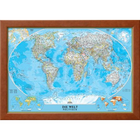 German classic world map framed art print wall art by national german classic world map framed art print wall art by national geographic maps gumiabroncs Image collections