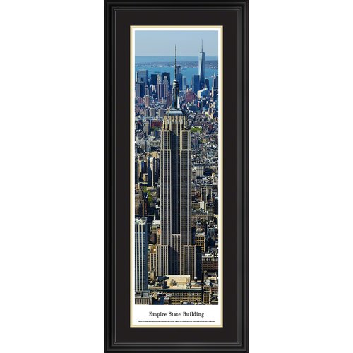 Blakeway Worldwide Panoramas, Inc Icon Empire State Building Framed Photographic Print