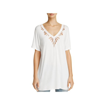 POL Womens Cut-Out Eyelet Casual -