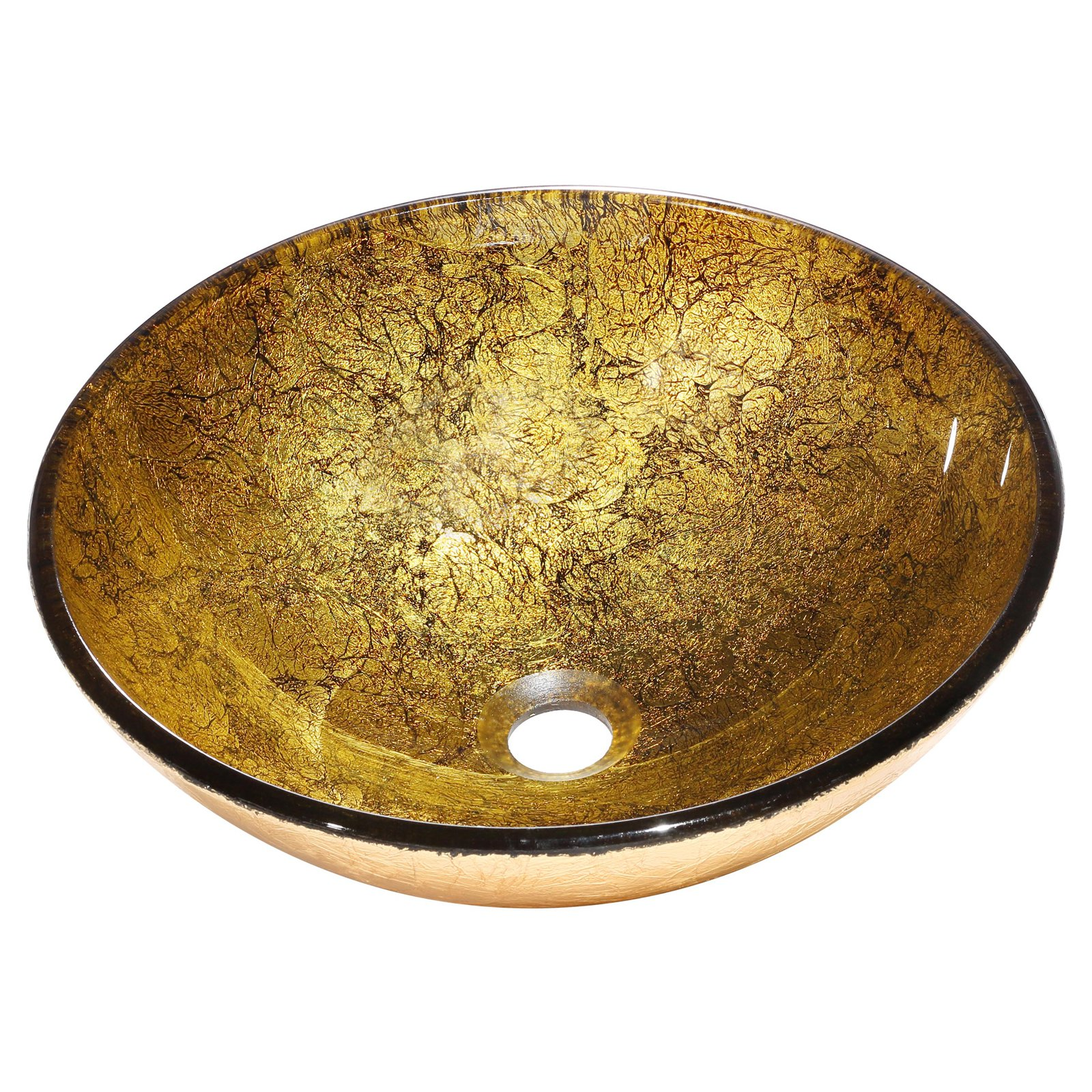 Bourgeois Golden Brown and Bronze Vessel Sink