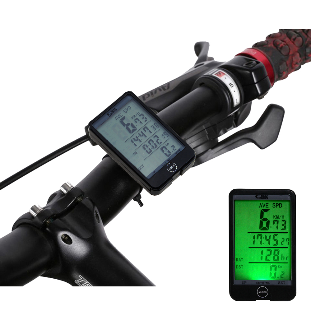 AGPtEK Multifunctional Wireless Bicycle Stopwatch Odometer Speedometer Bike Cyclometers Waterproof Touch LCD Computer