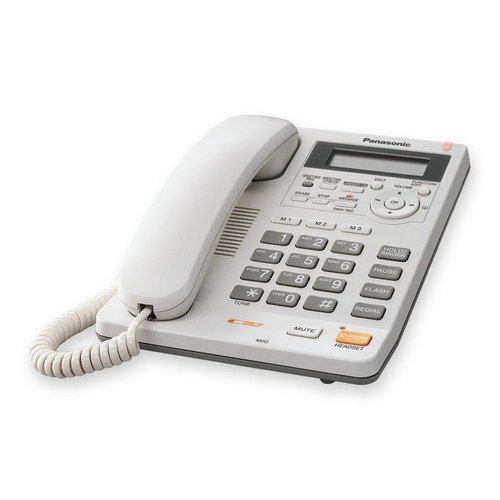 Panasonic KX-TS620W Single-Line Corded Integrated Telepho...