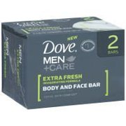 Dove Dove Men+Care Body & Face Bar Soap 4 oz. 2-Count (Pack of 3)