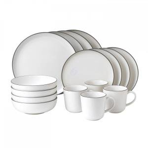 16-Piece Bread Street Dinnerware Set, White