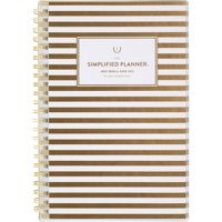 "Simplified for AT-A-GLANCE Academic Weekly/Monthly Planner, July Start, 6"" x 8"", Gold Stripe (ELW20-201A-21)"
