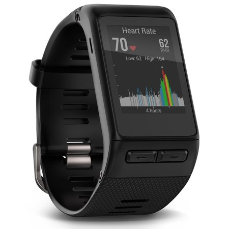 Garmin V Voactive Hr Gps Smart Watch  Regular Fit   Black International Version   Us Warranty