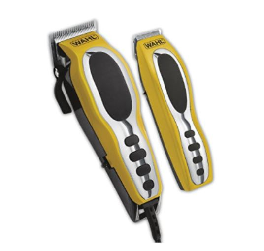 Wahl 79520-3101P Groom Pro Total Body Hair Clipper Grooming Kit, high-carbon steel blades, Yellow/Black